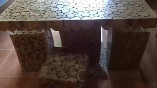 meja kursi set dari limbah kayu 085327523477 istimewa