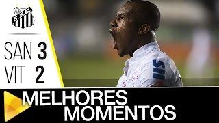 Santos 3 x 2 Vitória   MELHORES MOMENTOS   Brasileirão (17/11/16)