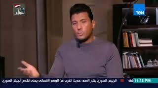 """البوصلة - بالفيديو عمرو أديب يسأل يوسف زيدان """"هل في الفقه الإسلامي شخص بعينه سبب الإرهاب؟"""