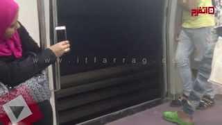 مترو المنيب يسير 10 محطات متتالية «بأبواب مفتوحة»
