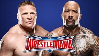 WWE Wrestlemania 32 - Brock Lesnar vs. The Rock