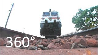 First Time Ever 360° CAM Under The Indian Train| 3D View Of HOG WAP-7 Ispat Express