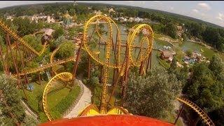Goudurix Roller Coaster POV Parc Asterix Paris France