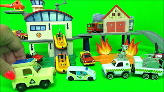 Fireman Sam Fire station episode of unboxing  + Jupiter, Fire Station and Ocean Rescue