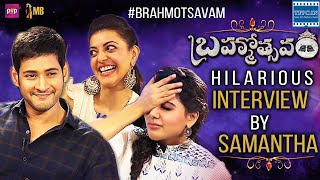 Mahesh Babu Samantha Kajal Aggarwal Hilarious Interview | Brahmotsavam Movie | TFPC