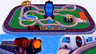 Train cartoon fun for children - Trains for children - chu chu train - Trains - Toy Factory