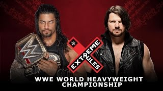 WWE Roman Reigns Vs. AJ Styles - Extreme Rules 2016 Highlights