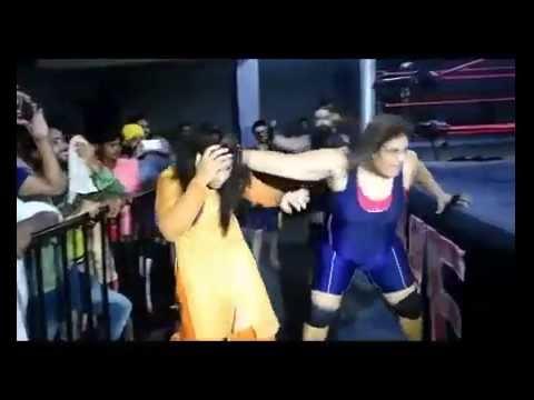 Wrestling girls take revenge from punjabi girl
