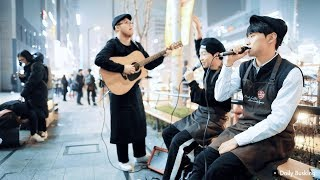 강남카페 탈주한 알바생들 ㄷㄷ BTS(방탄소년단) DNA Cover KPOPPY 버스킹 직캠