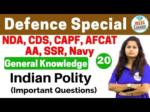 Xxx Mp4 4 00 PM Defence Special General Knowledge By Shipra Ma Am Day 20 Indian Polity Imp Ques 3gp Sex