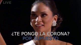 Parodia coronación de Miss Universo 2015