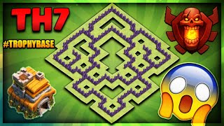 "BRAND NEW 2018 TOWN HALL 7 (TH7) TROPHY/DEFENCE BASE-""UNSTOPPABLE""-Clash Of Clans"