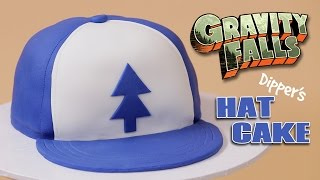 GRAVITY FALLS DIPPER'S HAT CAKE - NERDY NUMMIES