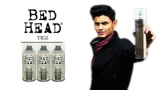 BED HEAD Hard Head Hair Spray REVIEW | TIGI | STRONG HOLD HAIRSPRAY FOR MEN | Mayank Bhattacharya