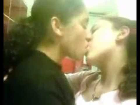Lesbian Girls kissing - French Kiss - Less