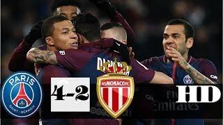 PSG vs Monaco 4-2 -  All Goals & Extended Highlights RÉSUMÉ & GOLES ( Last Match ) HD