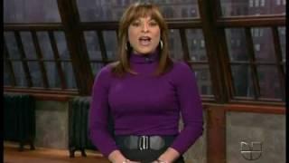 Rosana Franco 01222010 Tight Purple Top Black Skirt Black Hose.avi