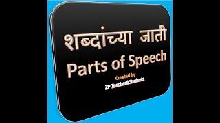 शब्दांच्या जाती  Parts of speech