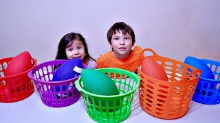 Wrong Color Ball Drop In The Basket and Learn Colors for Toddlers and Children