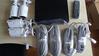 Unboxing and setup of  SANNCE / ANNKE 4CH 1080P PoE NVR HD Security Camera System