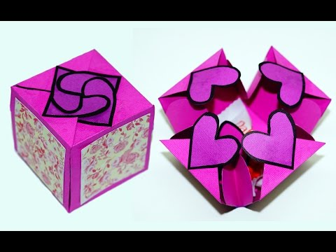 Xxx Mp4 DIY Paper Crafts Idea Gift Box Sealed With Hearts A Smart Way To Present Your Gift Julia DIY 3gp Sex