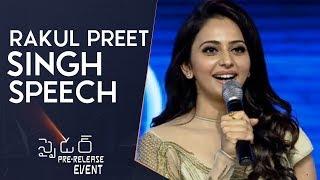 Rakul Preet Singh Speech @ Spyder Pre Release Event   Mahesh Babu   A R Murugadoss   Rakul Preet