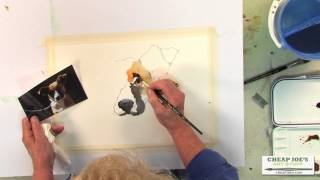 Drawing and Painting Watercolor Tutorial with Pat Weaver - A Dogs Face