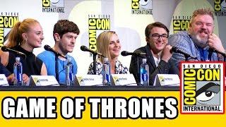 GAME OF THRONES Comic Con Panel (Part 1) - Season 7, Sophie Turner, Iwan Rheon, Kristian Nairn