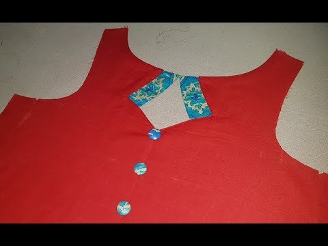 Simple Front Boat Neck Designs Cutting and Stitching