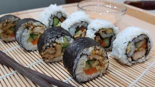 Resep Sushi Roll Ayam Teriyaki (2 Tipe) | Episode 12 - spicyfoody
