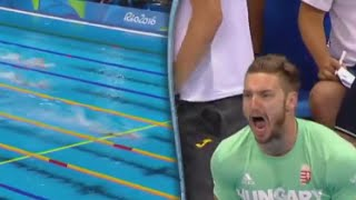 Olympic Husband Goes Nuts in Stands Cheering for Wife