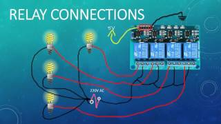 Four channel relay connection