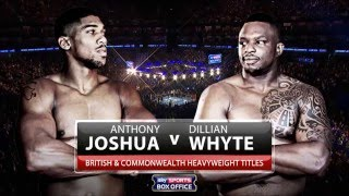 Anthony Joshua vs Dillian Whyte O2 Arena Full Fight HD