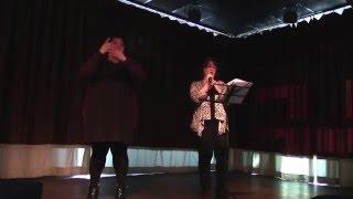 Deaf/Def Jam poetry at Lovin' Cup, 2/20/2016 Lori nolasco-Martinez and Dee Herrera interpreting