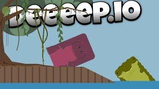 Deeeep.io - Destructive Hippo Dominates the Swamp! -  - Lets Play Deeeep.io Gameplay - Beta