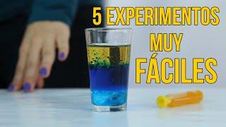 5 experimentos científicos para niños (RECOPILACIÓN)