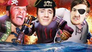FIRST-TIME PIRATES TAKE ON THE WORLD || Sea of Thieves Part 1 w/ 8-BitRyan & Oompaville