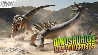 TOP 10 Dinosaurios Más Peligrosos Del Mundo