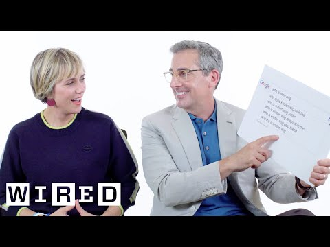 Steve Carell & Kristen Wiig Answer the Web s Most Searched Questions WIRED