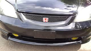 2003 Civic Ex vtec Walkaround exhaust revs