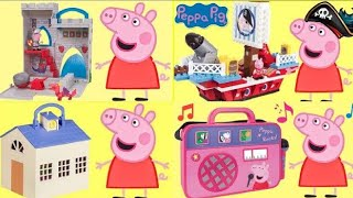 Nick Junior PEPPA PIG Play Sets Collection, Pirate Ship, House Duplo School, Pizzeria Playdoh / TUYC