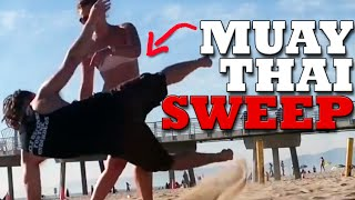 How to Do a Muay Thai Sweep | Sweep Someone in a Fight