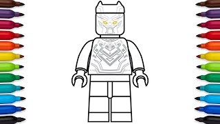 How to draw Lego Black Panther from Captain America: Civil War