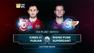 Highlights KXIP vs RPS M4 IPL 2017