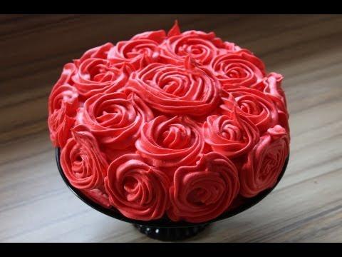Muttertagstorte Rosen torte aus den resten meiner Minnie Mouse Torte Krümel Rosentorte