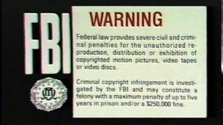 FBI Warning intro ident (1995)