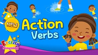 Kids vocabulary - Action Verbs 2 - Action Words - Learn English for kids - English educational video
