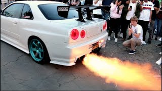 What Happens When An R34 GTR Crashes The Show...