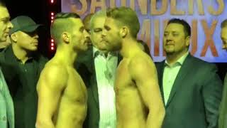 Billy Joe Saunders vs David Lemieux - FACE OFF at WEIGH IN