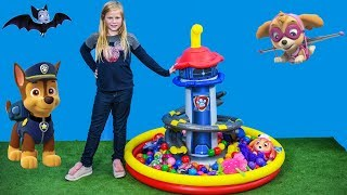 PAW PATROL Lookout Tower Ball Pit with PJ Masks + Vampirina + Puppy Dog Pals Toys